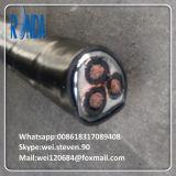 Изолированный XLPE витого подземных медный кабель питания