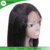 ブラジルの毛のYakiのまっすぐなレースの前部かつら100%の人間の毛髪のかつら