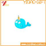 Chevilles bleues mignonnes en métal de Pin de revers d'émail de dauphin de Cortoon de logo fait sur commande petites avec le cadeau de /Pins d'insigne d'école (YB-HD-71)