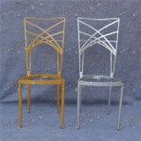 Современные фантазии золото и серебро металлической раме Удобная подушка свадьбы стул Yc-As48
