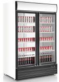 Congelador de exibição de 1000 l, congelador de exibição vertical de alta qualidade