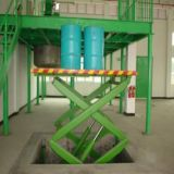 El equipo de elevación de la manipulación de materiales Scissor la elevación
