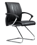 Cadeira de couro da saliência do metal do hotel do braço do escritório de equipe de funcionários (RFT-B179)
