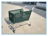 Hot Sale Supermarket Shopping Trolley Cart with Plastic Baskets