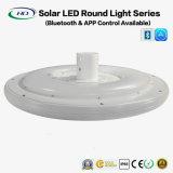 luz redonda solar do diodo emissor de luz 25W com Bluetooth APP