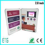 "2.8 "" kundenspezifische LCD Video-Visitenkarte"