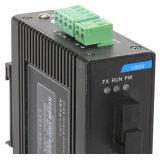 Interruptor 2 Puerto Ethernet 1 Red Ethernet Industrial 100m de fibra