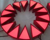 Brushed Stainlessteel Metal 3D Dimensionnel LED Light Illuminé Ouvert Logo personnalisé Neon Sign Red Channel Lettre