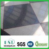 Pedra artificial cinzenta de quartzo da telha de assoalho do espelho