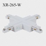 白くか黒いですまたは灰色の単一フェーズの十字の形LEDトラック柵のコネクター(XR-265)