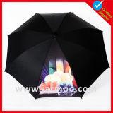 Ombrello promozionale del regalo di colore nero su ordinazione