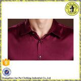 Fabrique les hommes en soie ordinaires dernier cri de chemise de satin de la Chine