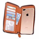 Универсальные смарт-телефон Wallet стиле футляр из натуральной кожи с магнитом