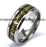 Het roestvrij staal legde Houten Ring in herdenkt de Ring van Juwelen (SSR2708)