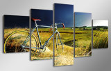 HD imprimió la bicicleta de la vendimia en la lona Mc-024 del cuadro del cartel de la impresión de la decoración del taller de impresión de la lona de pintura de la tormenta