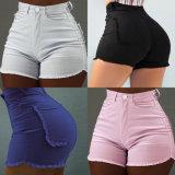 Fashion Slim dame femme Jeans Pantalons courts dentelle