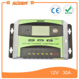 Suoer 12V 24V 30A intelligenter Vollmacht- zur Belastung des Anlagevermögenssolarcontroller (ST-C1230)