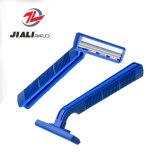 Hotel-Produkte Hotal Rasiermesser-manueller Rasiermesser-Zwilling-Schaufel-Kopf-örtlich festgelegtes Wegwerfrasiermesser mit Schmiermittel