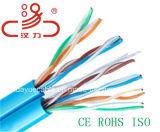 Cabo enchido geléia do áudio do conetor de cabo de uma comunicação de cabo dos dados do cabo do cabo/computador da rede de UTP Cat5e