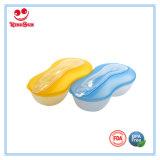 Bacia de plástico para bebês com colher para recém-nascidos