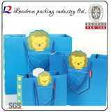 Paper Shopping Gift Presente Revestimento Artístico Revestido Carrier Carton Picture Packing Bag for Kids / Child (Y10A)