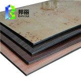 El revestimiento de aluminio Panel de Silve Rmeterllic color al aire libre Fachada Acm