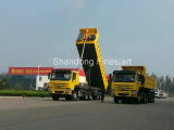 3개의 차축을%s 가진 반 Sinotruk HOWO 덤프 트럭 트레일러 팁 주는 사람 트럭/쓰레기꾼 트럭