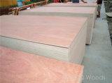 La chapa comercial estándar de Okume de la madera contrachapada 4*8 hizo frente a la madera contrachapada