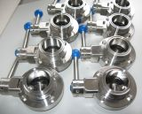 304/316L Stainless Steel Manual Food Grade Butterfly Valve