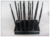 新しい手持ち型の12バンド3G CDMA GPS携帯電話のシグナルのデスクトップの妨害機、携帯電話のシグナルの妨害機またはシグナル無線アラーム電話ブロッカー