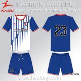 Engrenagem de vestuário barato preço Healong Impressão Digital Teens Club Conjuntos de futebol para venda