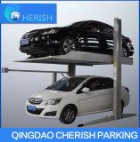 Levantador doble del estacionamiento del cilindro de dos postes con Ce