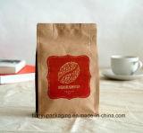 Bolsa de papel de Kraft del café con la válvula unidireccional de la desgasificación