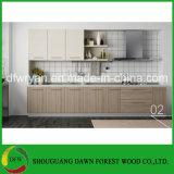 Gabinete de cozinha de madeira do folheado da venda quente