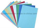 La venta superior coloreó el papel grabado el grano de cuero