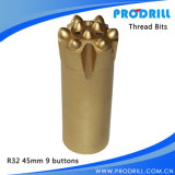 Rock Drilling& Blasting를 위한 탄화물 Tipped Thread Drill Button Bits