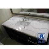 자연적인 백색 Carrara 대리석 돌 부엌 목욕탕 허영 상단