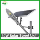 Indicatore luminoso di via solare esterno della PANNOCCHIA 30W LED di buona qualità