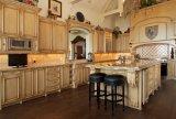 Цельная древесина кухонным шкафом и современная мебель Yb-16007