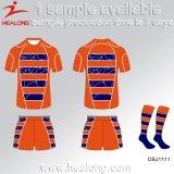 Healongのスポーツの切口は昇華させた印刷のラグビーのワイシャツを縫い、