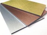 Het geborstelde Zilveren Materiële Aluminium Samengestelde paneel-Aludong van de Binnenhuisarchitectuur