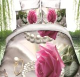 De bloem Afgedrukte Reeks van het Beddegoed van de Grootte van de Koning van de Polyester 3D