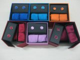 Moda Masculina Cores clássicas gravata com caixa de oferta