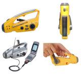 Dínamo Manivela Lanterna Rádio, Rádio Multifunção lanterna LED de marcação&RoHS Certificado