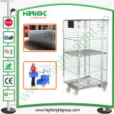 Cable Logística Servicio de lavandería jaula antivuelco con dos ruedas giratorias