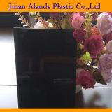 Folha plástica acrílica preta do perspex da folha