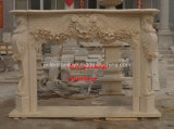 Камин камина/мраморный/солнечный бежевый мраморный камин