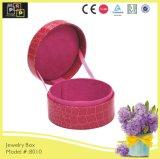 Rosafarbene Farben-nach Maß runder kleiner Schmucksache-Kasten (8010R2)