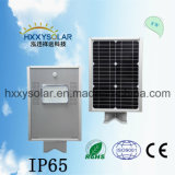 IP65 6500K luz de rua LED solar integrada