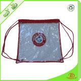 Sacchetto di Drawstring libero della radura del sacchetto dello zaino del PVC con il marchio